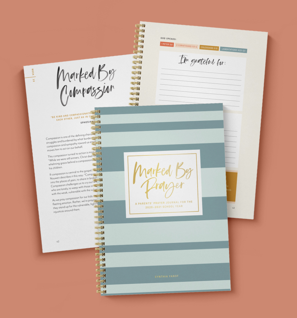 Marked by Prayer, our newest prayer journal, is now available!