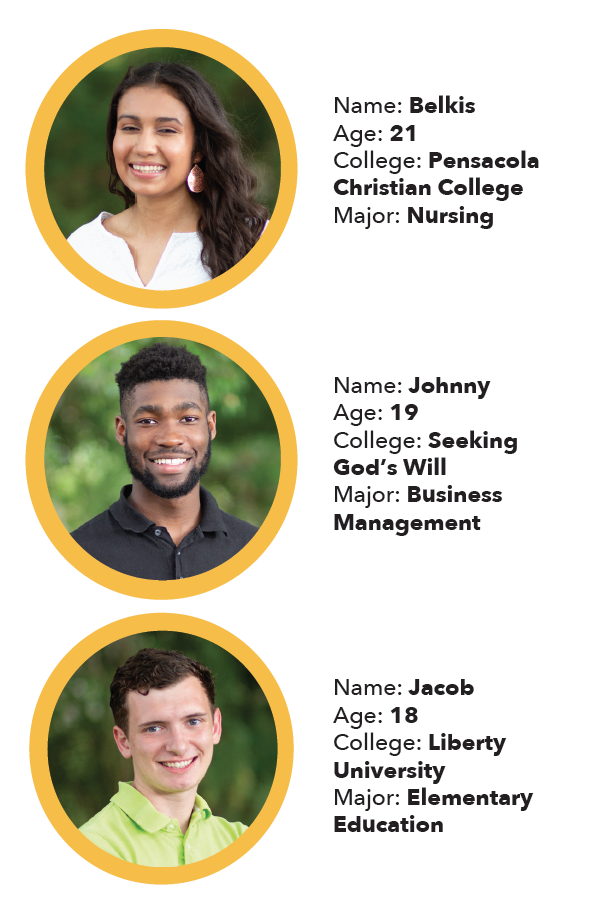 Meet our Interns and help them as they work through college.