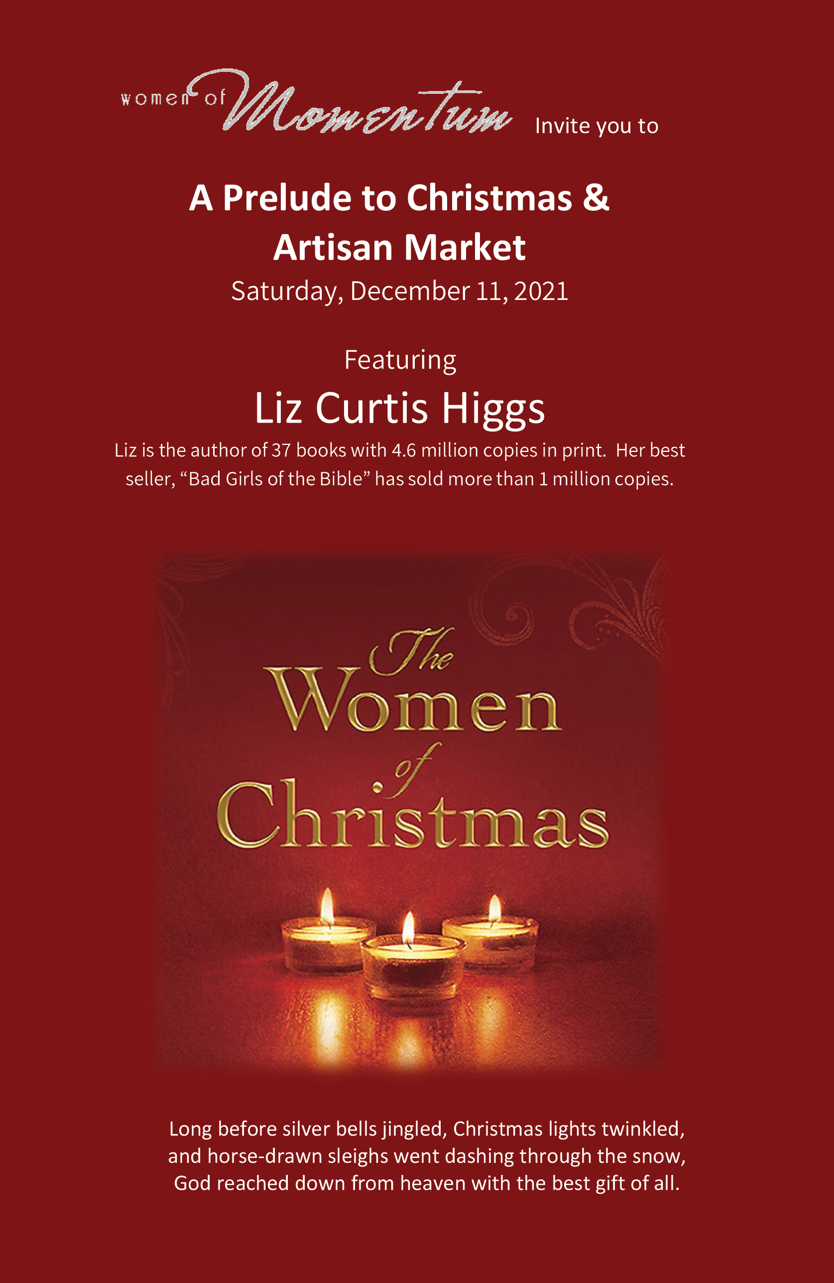 """""""A Prelude to Christmas"""" Luncheon & Artisan Market"""