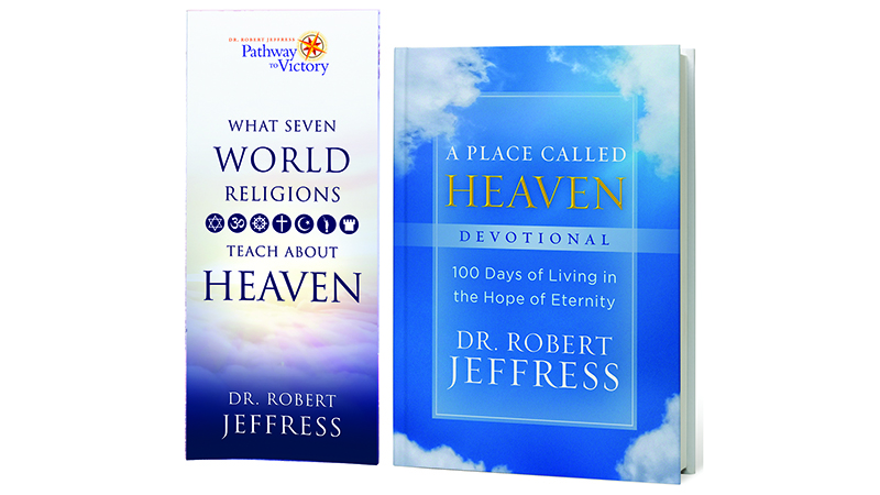 A Place Called Heaven Devotional + What Seven World Religions Teach About Heaven brochure