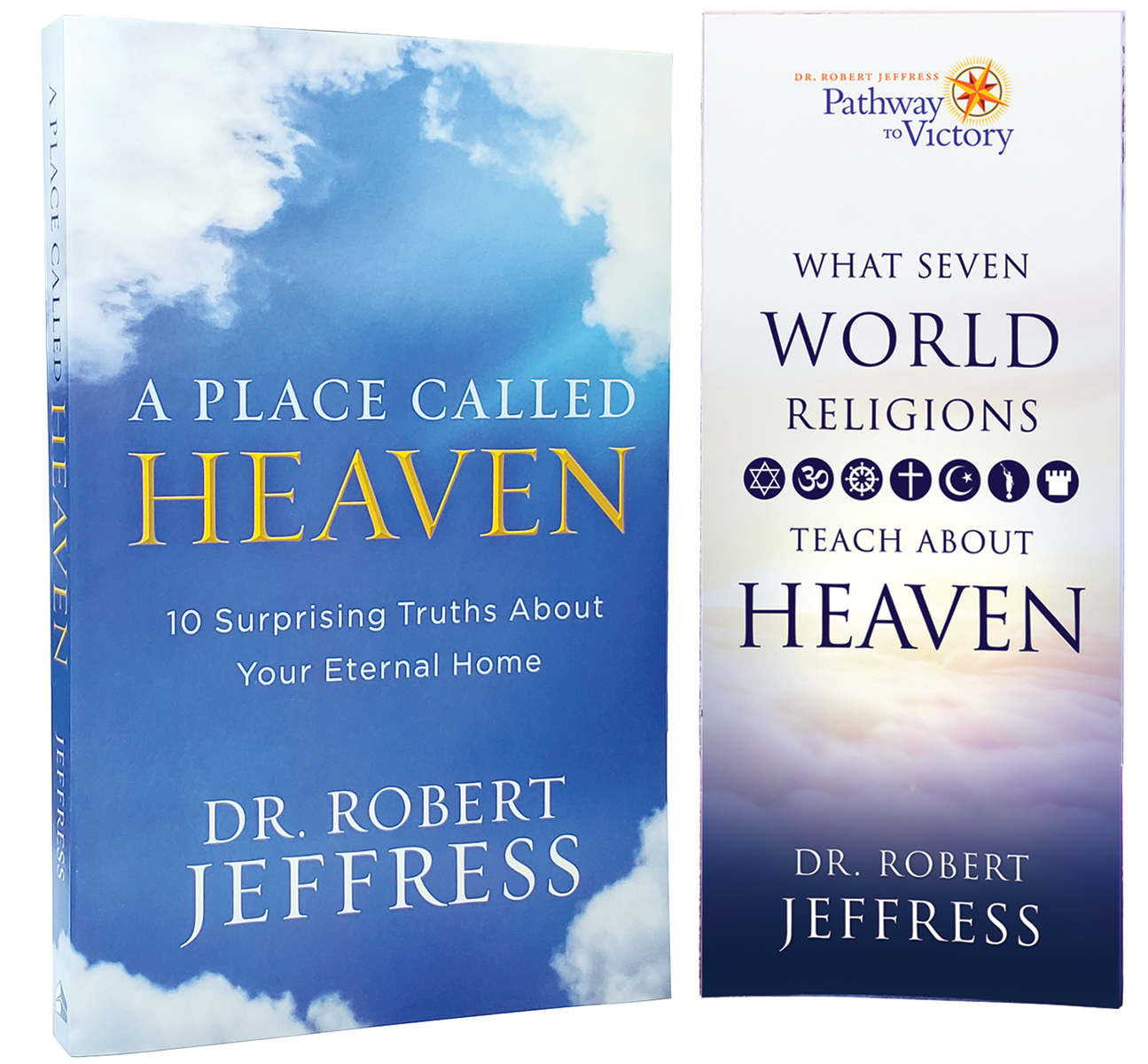 A Place Called Heaven soft-cover book + What Seven World Religions Teach About Heaven brochure