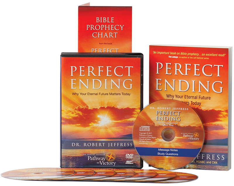 Perfect Ending book and DVD Video and MP3-format audio disc and The Bible Prophecy Chart