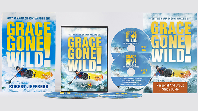 Grace Gone Wild! book, the Personal & Group Study Guidebook, and the Grace Gone Wild! series on DVD Video and MP3-format audio disc