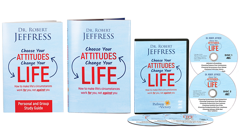 Choose Your Attitudes, Change Your Life book, Personal & Group Study Guide, and the complete series on DVD Video and MP3-format audio disc