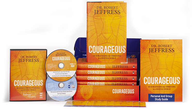 Courageous Leader Kit with five hard-cover copies of the book, Courageous