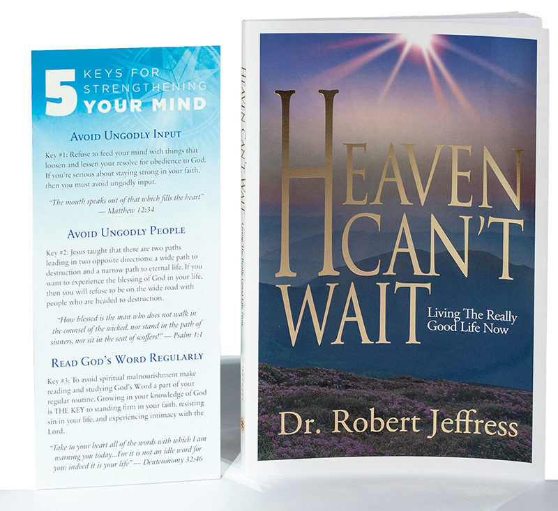 Heaven Can't Wait book plus 5 Keys for Strengthening Your Mind Encouragement Card