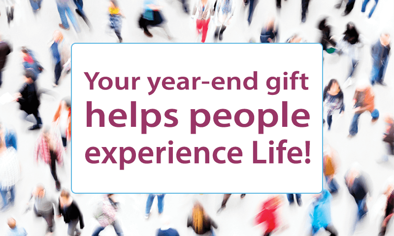 Your gift HELPS to share the hope of God's promises!